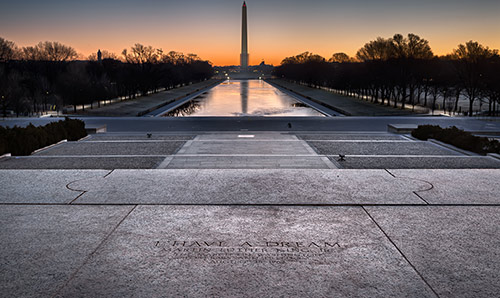 View from the Lincoln Memorial toward the Washington Monument