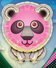 Artwork for Candylion, the insatiable inflatable.