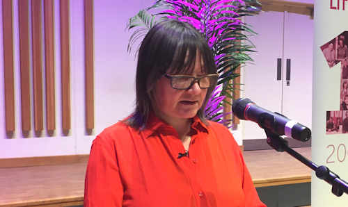 Ali Smith at Manchester Literature Festival event.