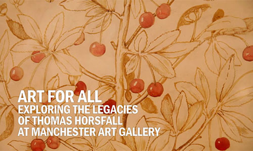 Art for All exhibition poster featuring cherries