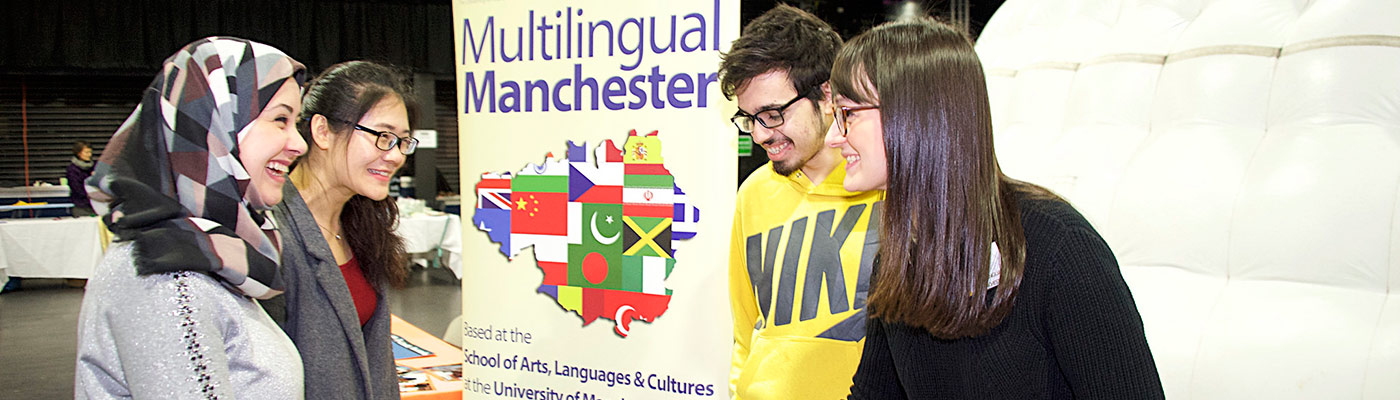 Multilingual Manchester stall