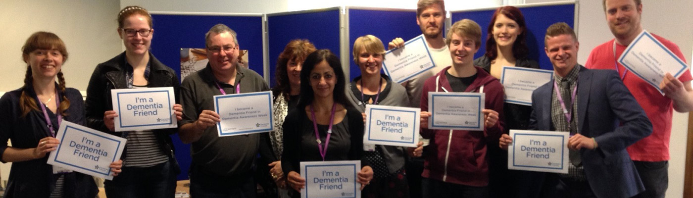 Dementia Friends group shot at the Martin Harris Centre