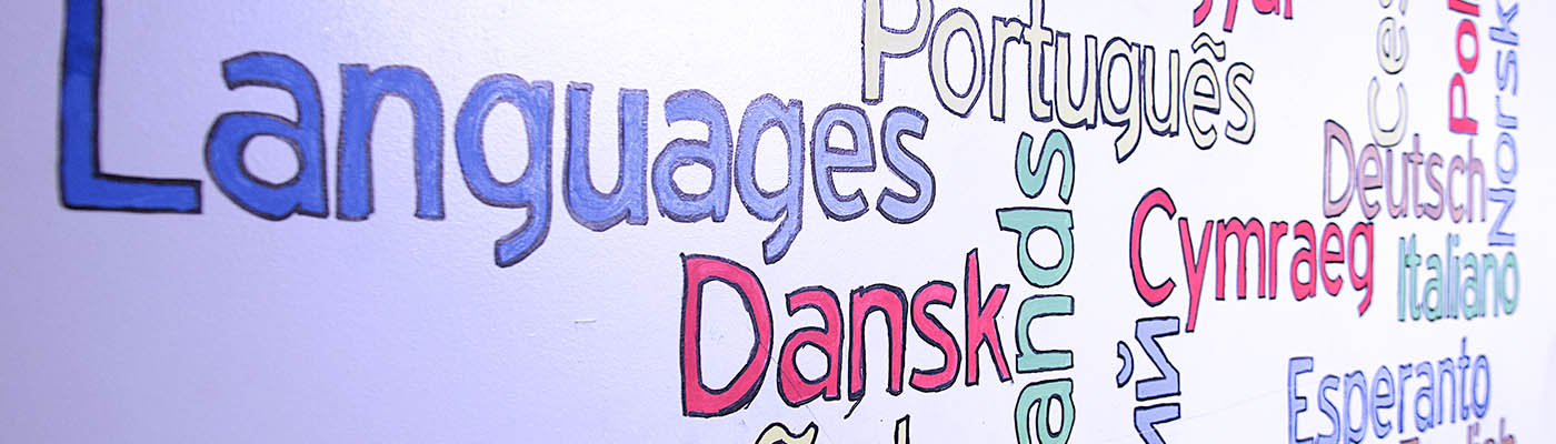 Languages written in balloon lettering