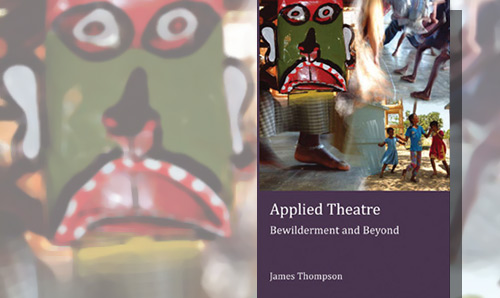 Close up of Applied Theatre book