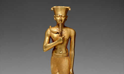 Gold statue of an Egyptian deity