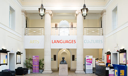 Interior shot of Arts, Languages and Cultures building