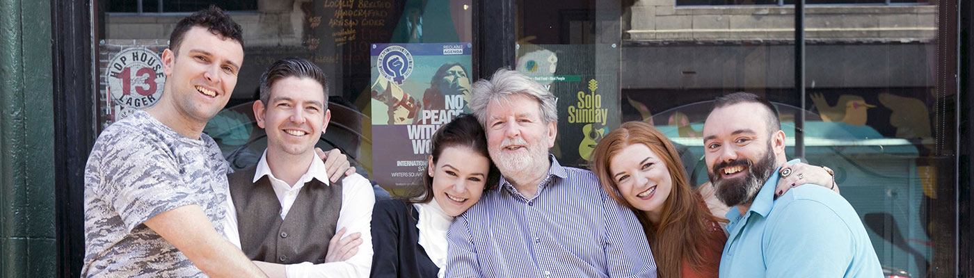 Martin Lynch and play cast of My Country, A Journey