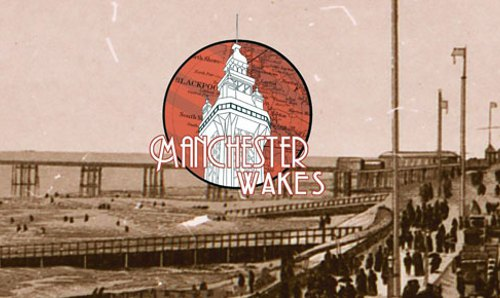 Manchester Wakes logo featuring Blackpool Tower