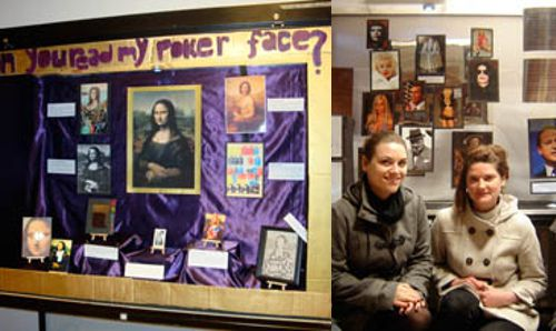 students with their display