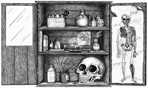 illustration of a medicine cabinet
