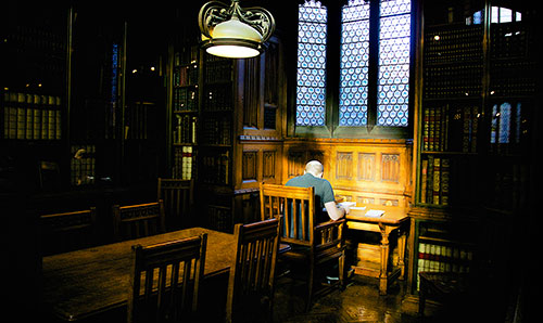 Student in John Rylands Library