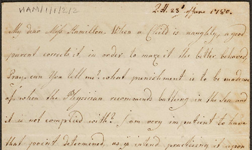 Mary Hamilton Papers (cursive handwriting on aged paper)