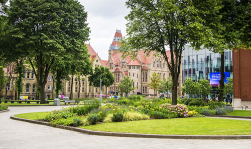 Exterior shot of The University of Manchester