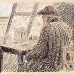 Lucien Pissarro, Camille Pissarro Etching, Collection of the Whitworth Art Gallery, the University of Manchester
