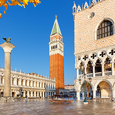 St Mark's Square in Venice, Italy.