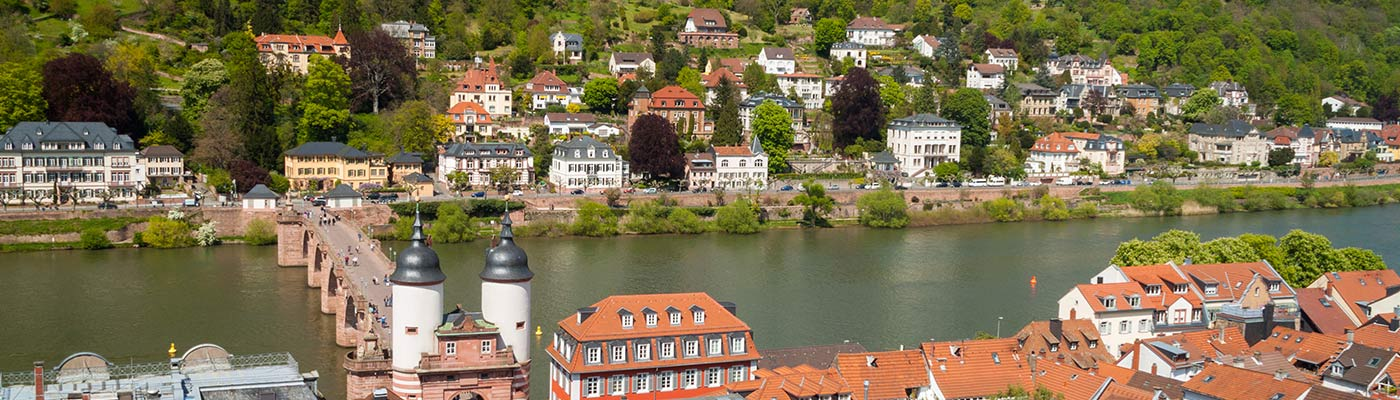 Carl Theodor Old Bridge in Heidelberg, Germany