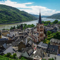 German town on the Rhine river