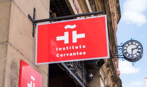 Instituto Cervantes sign