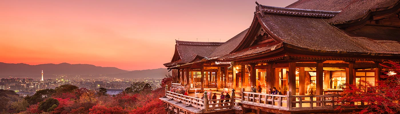 Japanese temple in the hills