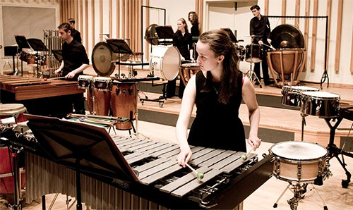 Female xylophone student