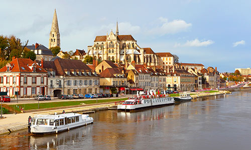 Riverside photograph of Auxerre in France