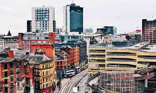 Rooftop view of Manchester Arndale
