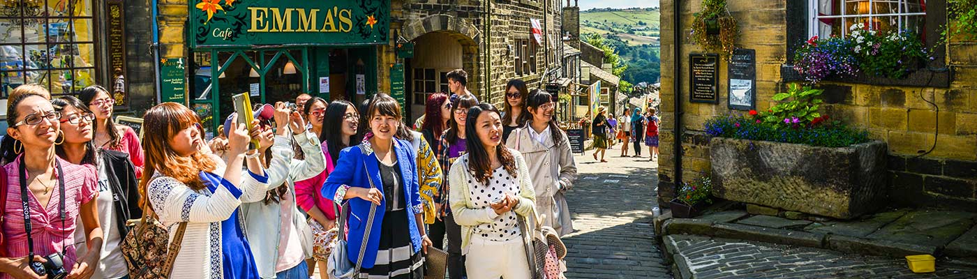 Students on a Bronte trip to Haworth