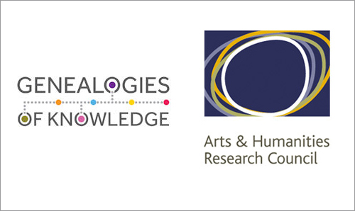 Genealogies of Knowledge logo and AHRC logo